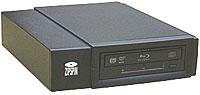 External blu-ray single drive burner.