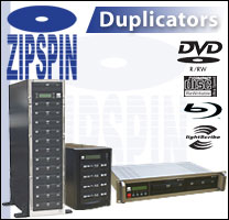 ZipSpin Duplicators - Blu-ray and DVD and Cd Burner in Data Storage Solution